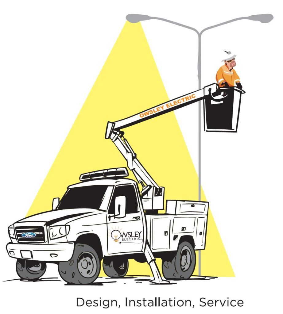 Owsley Electric 2018 Logo bucket Truck crop