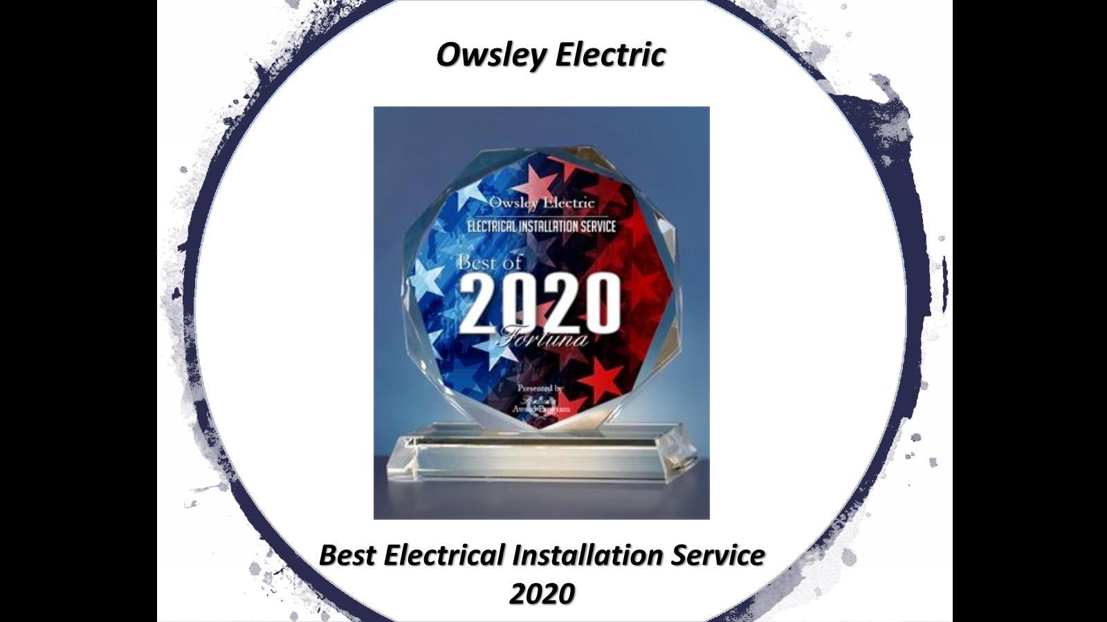 2020 Best Electrician Award
